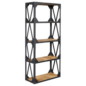 Century Large Industrial Bookcase