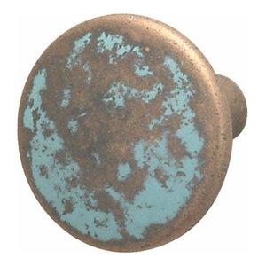 Hafele Zinc Knob, Copper-Rustic