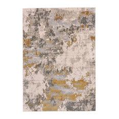 Weave & Wander Vanhorn Rug, Gold and Birch, 5'x8'