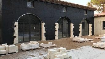 Voûtes massives en pierre de Beaulieu à Saint Tropez