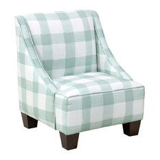 Martha Kids Swoop Arm Chair, Buffalo Square Mint