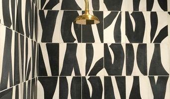 Ann Sacks/Popham Tile with gold fixtures