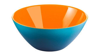 Fratelli Guzzini My Fusion Plastic Bowl, Blue and Orange
