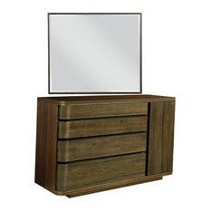 American Drew AD Modern Organics Spencer Dresser With Holt Landscape Mirror
