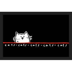 Easy Clean Peeking Cat Doormat