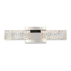 "Modern Forms Sofia 19"" LED Bath Vanity and Wall Light, Polished Nickel"