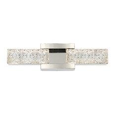 "Modern Forms Sofia 19"" LED Bath Vanity and Wall Light, Polished Nickel"