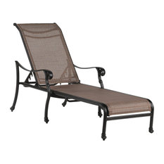 Stinson Sling Chaise Lounge, Indoor/Outdoor Pool Sun Lounger Chair