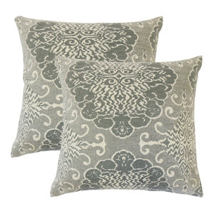 The Pillow Collection Kehinde Damask Throw Pillow Cover