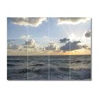 "Waves Photo Backsplash Tile Mural 15, 48""x36"""