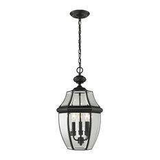Cornerstone Ashford 3 Light Exterior Hanging Lantern, Black