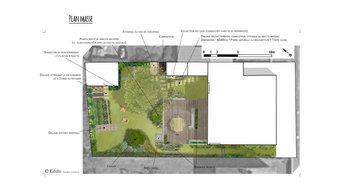 Un jardin dans le quartier Zola à Nantes