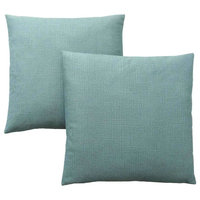 "Pillow - 18""X 18"" Patterned Light Green 2Pcs"