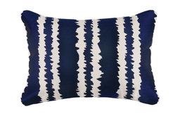 Santorini Indigo Embroidered Pillow, 14x20
