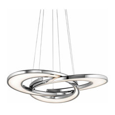 Destiny LED Chandelier, Chrome