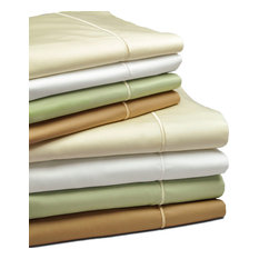 Classic Sheet Set with Heirloom Satin Stitch 100% cotton, Camel, Long Twin