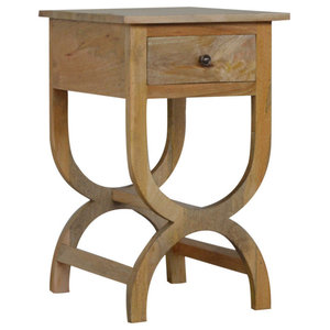1 Drawer Classic Style Mango Wood Bedside Table