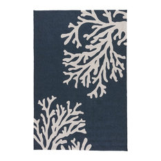 Jaipur Living Bough Out Indoor/Outdoor Floral Navy/Cream Area Rug, 5'x7'6""