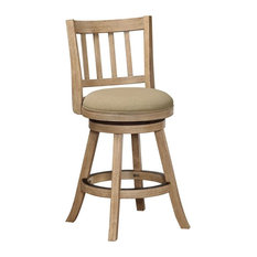 24-inch Sheldon Swivel Counter Stool Driftwood Wire-Brush And Oatmeal