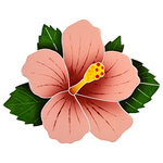 Artistry in Mosaics - Hibiscus Ceramic Tile, Pink - Enhance your home and pool with the highest quality of frost proof, handmade ceramic tile designs.
