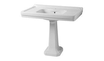 "Sbordoni Neoclassica Pedestal Washbasin, 42""x24"", 1 Tap Hole"