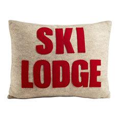 Ski Lodge, Oatmeal/Red