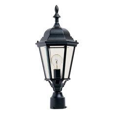 Westlake 1-Light Outdoor Pole/Post Lantern, Black/Clear Glass