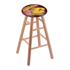 Oak Counter Stool Natural Finish With Central Michigan Seat 24-inch