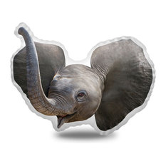 Baby Elephant Decorative Accent Throw Pillow