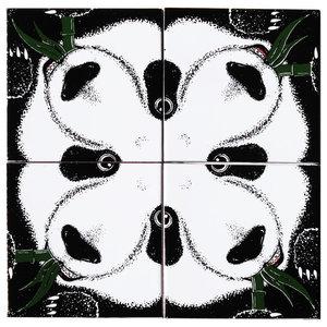 Panda Ceramic Tile Mural, 4 Tiles