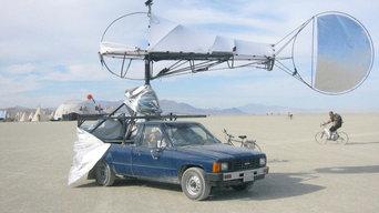 Burning Man Wind Catcher Tent