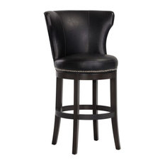 Oversized Swivel Stool Coal Black Bar Seat