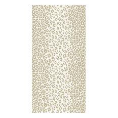 Schumacher Iconic Leopard Printed Wallpaper, Linen, Double Roll