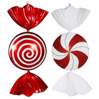 """Vickerman 18"""" Peppermint Candy Assorted Set of 2"""