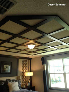 Decorative Metallic Plaster Ceiling With Swarovskis