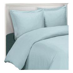 100% Bamboo Viscose Soft Duvet Cover Set, Blue, Full/Queen