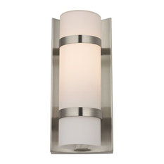 Satin Nickel Indoor / Outdoor Wall Light