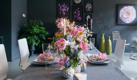 Üppig und festlich: Eine Tischdeko für Ostern mit Blumen