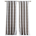 """Inspired Surrounding by 1888 Mills - Kalahari Jacquard 84"""" Window Curtain With Rod Pocket, Single Panel, Gray - Kalahari is a diamonds jacquard design window curtain panel that will add a soft touch of elegance to almost every room of the house.  It has a 3-inch rod pocket for easy fit of most window rods. The jacquard diamonds have a distressed look that you won't find in ordinary window curtains. Easy care, machine washable. Imported and sold as a single window panel curtain. Inspired Surroundings window curtains by 1888 Mills."""