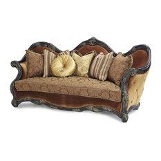 AICO Essex Manor Fabric and Wood Trim Sofa