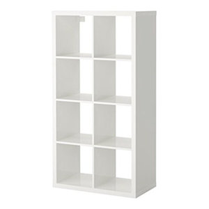 Display Shelving Unit, MDF With 6-Compartment, Modern Design, High Gloss White