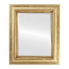"""Lancaster Framed Rectangle Mirror in Gold Leaf, 29""""x41"""""""
