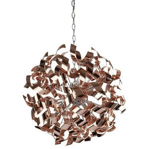 Lyndsay 6-Light Ceiling Light Rose, Gold Finish