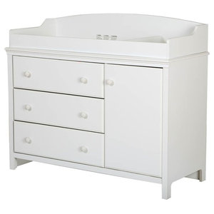 e1f48cd0c1f0 Durable White Baby Changing Table Dresser with 3 Drawers ...