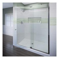 Miseno MSDF6076 Hinged Shower Door, Chrome