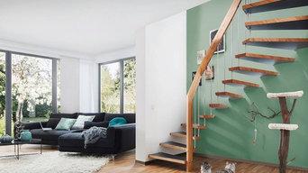 Diverse Fotos; diverse Treppensysteme