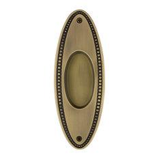 Beaded Bin Pull, Antique Brass