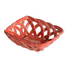 Intrecci Coral Square Bon Bon Basket