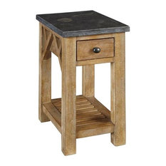 A America   A America West Valley Chairside Table, With Bluestone Top