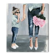 """Fashion Mummy and Me"" Canvas Art Print, 90x115 cm"